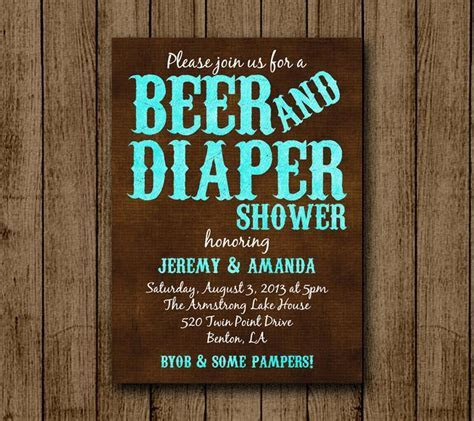 Beer and Diaper Baby Shower Man Baby Shower Beer by