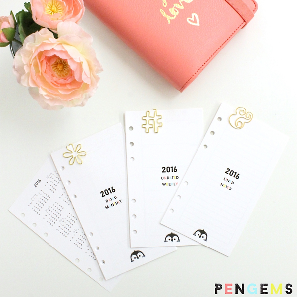 2016 PenGems Personal Planner Inserts
