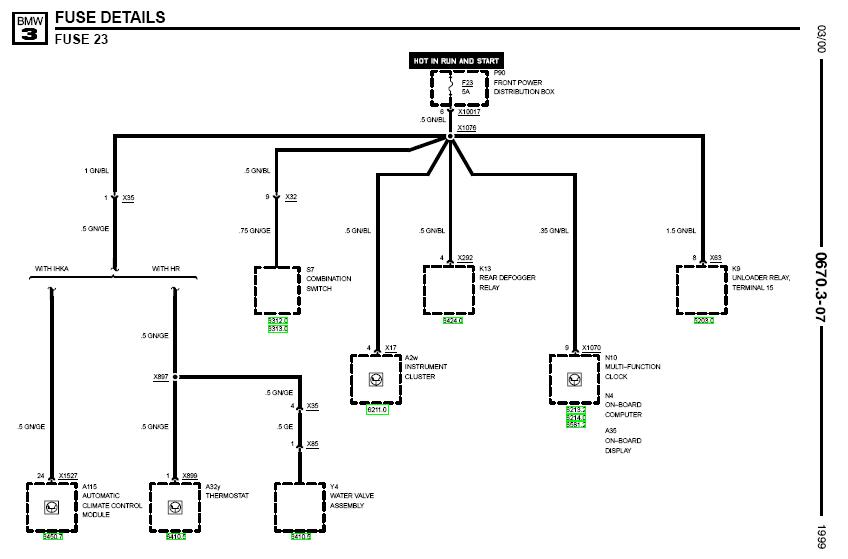 Wiring Diagram  31 1999 Bmw 323i Parts Diagram