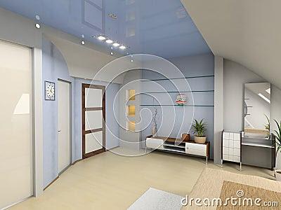 Royalty Free Illustration: Modern bedroom interior. Ima