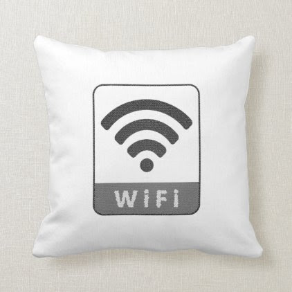 Knitted look wifi sign throw pillow