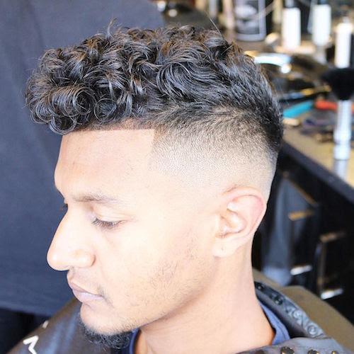 joshlamonaca_high fade and natural curls