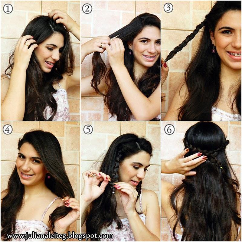 penteado romântico com pérolas feita de grampo acessório fashion juliana leite blog trança passo a passo tutorial