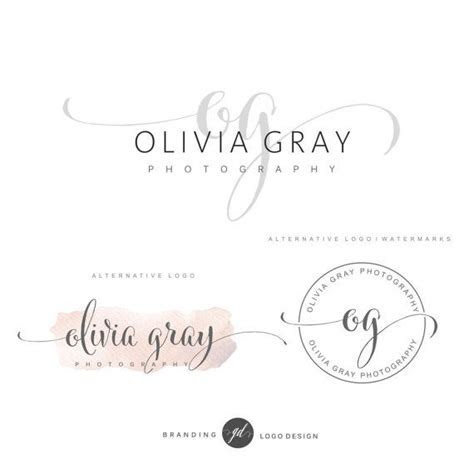 Photography logo package, Premade Initials logo, Branding
