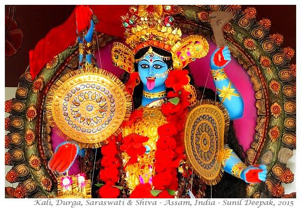 Kali, Shiva, Krishna, Radha myths - Images by Sunil Deepak