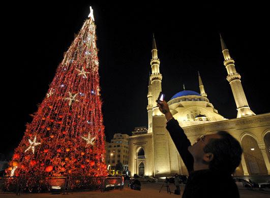 Gallery Christmas lights: Lebanon