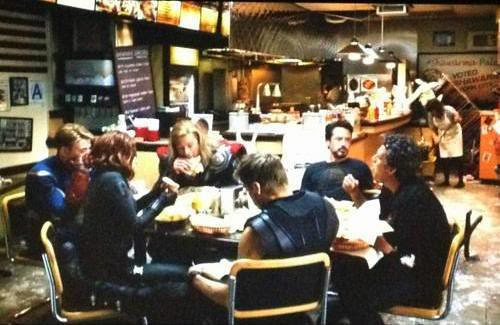 The Avengers @ the Shawarma's place