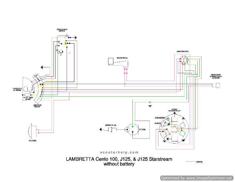Lambrettum Scooter Wiring Diagram 100