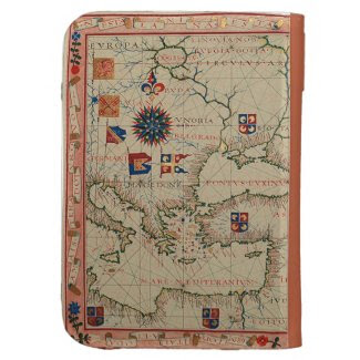 Antique Map Case For The Kindle