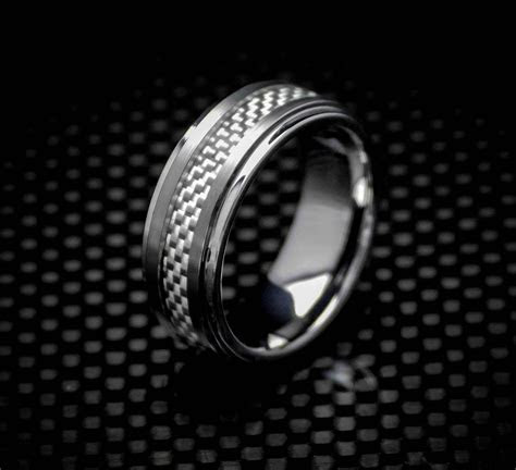 BUGATTI Tungsten Carbide & Carbon Fiber   8mm   K Sta