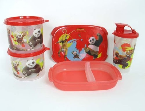 tupperware new kung fu panda bento lunch box set kids bento boxes. Black Bedroom Furniture Sets. Home Design Ideas