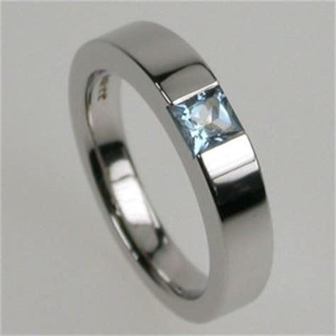 Times Square 4 Aquamarine Engagement Ring   Stephen Einhorn