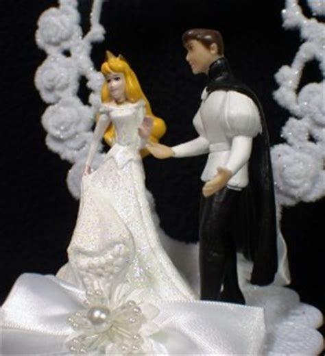 SLEEPING BEAUTY Wedding Cake Topper LOT gift set DISNEY