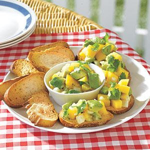 Avocado-and-Mango Salsa Crostini | MyRecipes.com