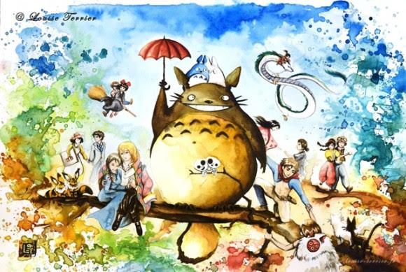 ジブリアニメを愛するフランス人が描いた水彩画 カラパイア