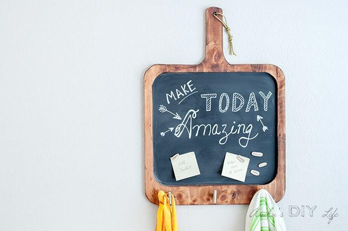 Easy DIY Magnetic Chalkboard | Anika's DIY Life