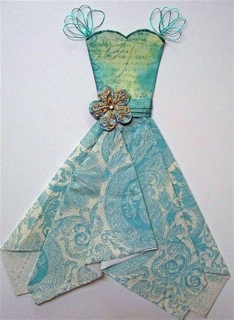 how to fold a vintage hanky dress   Paper Dress With a