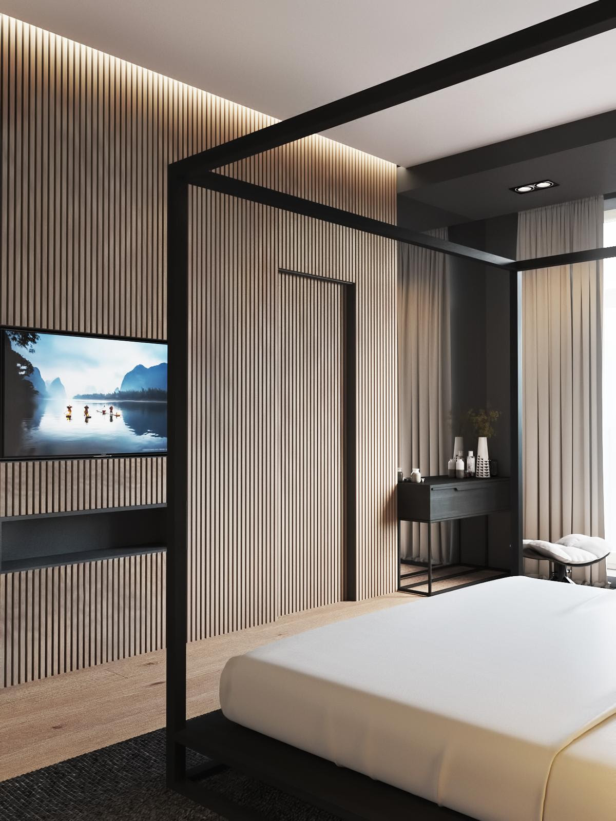 4 Luxury iBedroomsi With Unique Wall Details