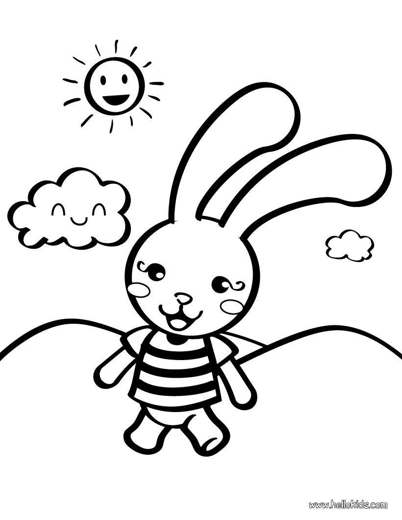 [lapin dessin  colorier