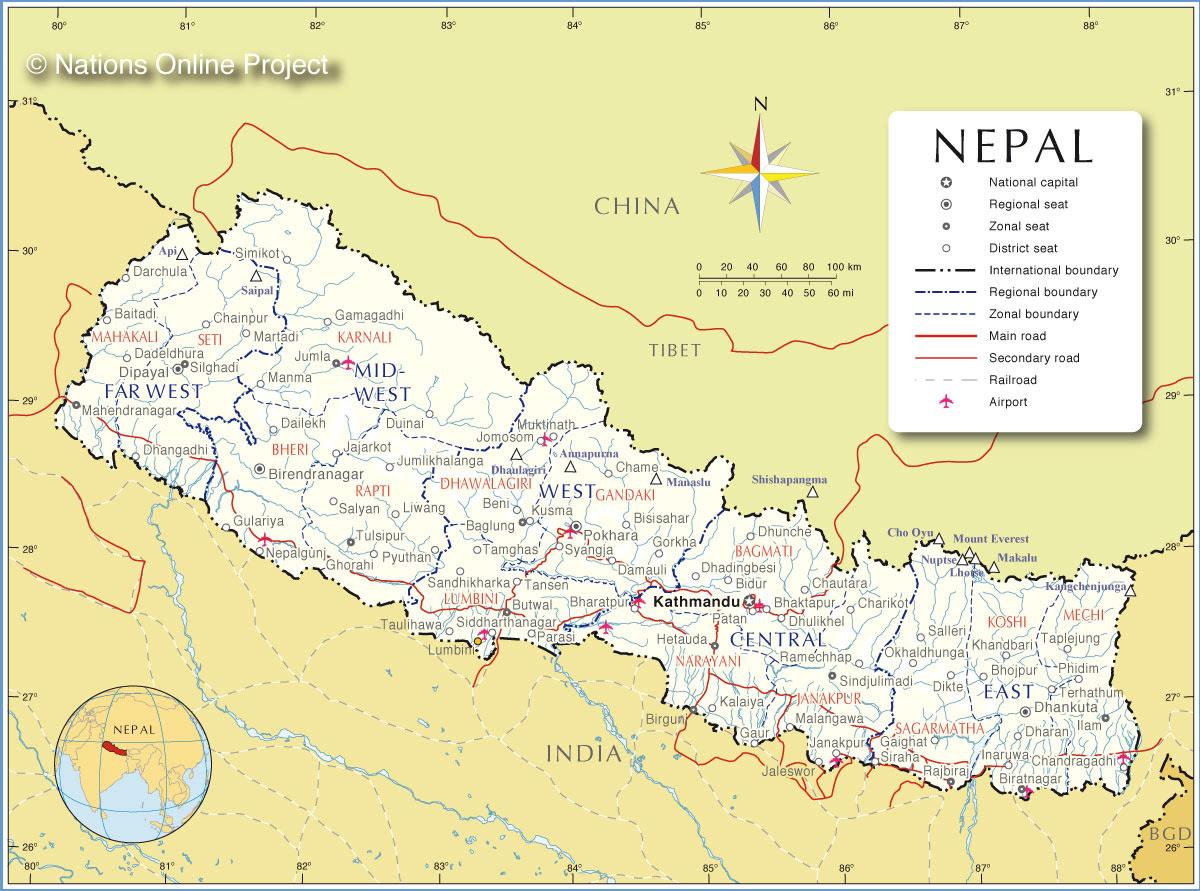 Résultats de recherche d'images pour «nepal map»