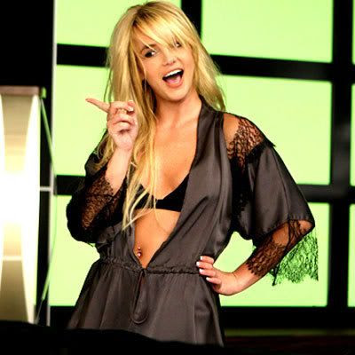 A still shot of Britney Spears from the music video to her new song, WOMANIZER.