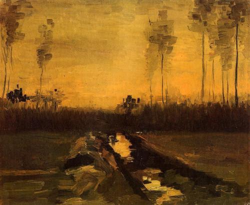 oilpaintinggallery:  Landscape at Dusk Artist: Van Gogh