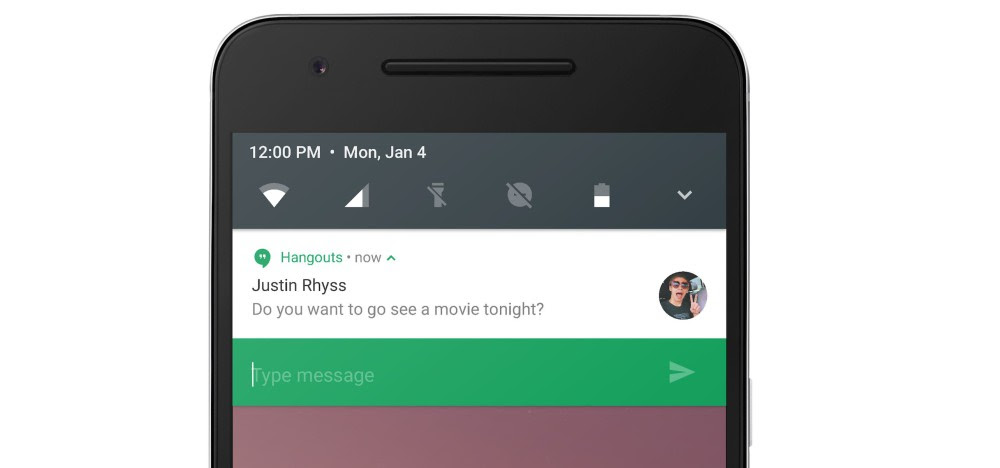 android n preview une