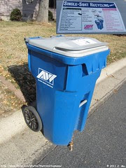 Allied Waste Recycling Cart