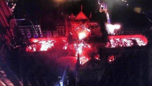 Incendie Notre-Dame de Paris 15 avril 2019