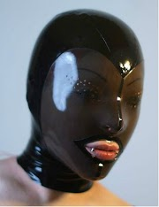 Sale  Latex Fetish Mask Transparent Black Face Hood Latex sex toys for couples adult sex games adult game