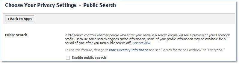 Facebook Public Search