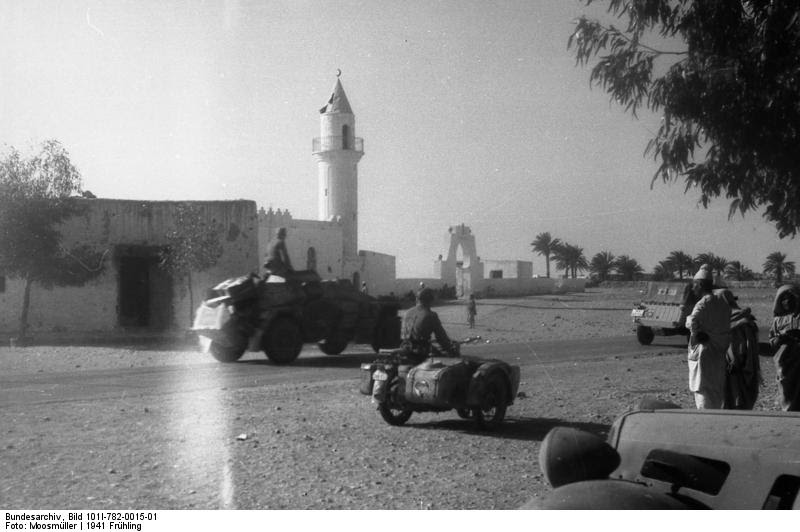 Units of the Afrika Korps in North Africa, early part of 1941