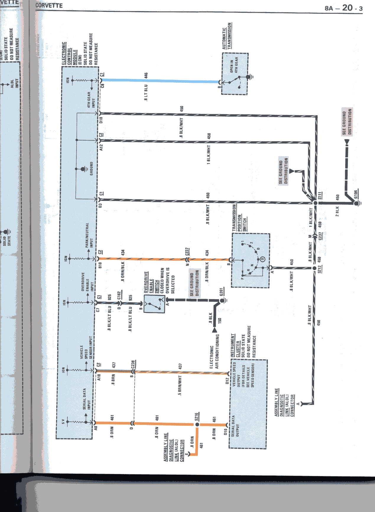 I Need A Wiring Diagram Schematic For 1988 Computer Corvetteforum Chevrolet Corvette Forum Discussion