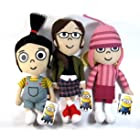 Despicable Me 2 - The Girls 3 Piece Plush Set - Includes Margo Edith and Agnes