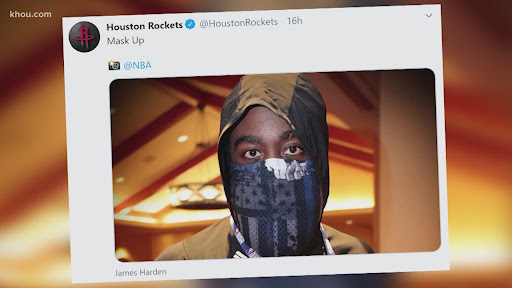 Avatar of Harden said he didn't know he was wearing 'Blue Lives Matter' facemask