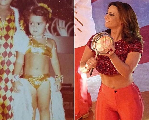 Viviane Araújo é 'rainha do carnaval' desde criança (Foto: TV Globo)