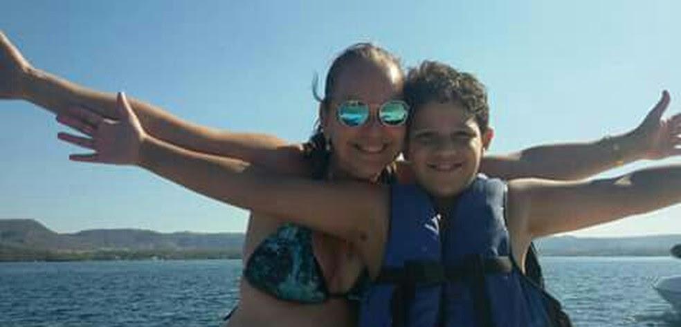 Ribeirão Preto, Patrícia e o filho durante viagem de férias (Foto: Patrícia Schimidt / Arquivo Pessoal)
