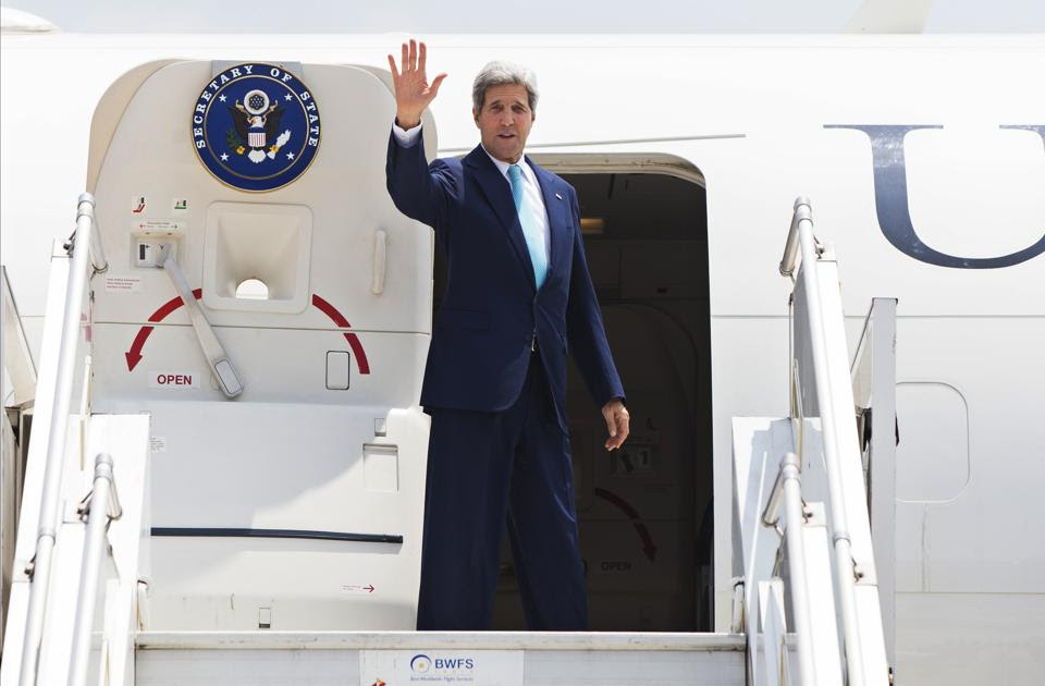 A file Photo of US Secretary of State John Kerry :: Pix Courtesy- AP Photo/Lucas Jackson, Pool