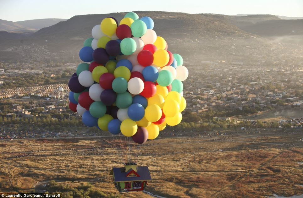 Challenge: Mr Trappe is ready to take on the Atlantic, a challenge which has called to balloonists for decades, although five others have died in the process, and none have crossed attached to cluster-balloons