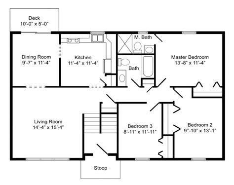 high quality basic home plans  bi level home floor plans