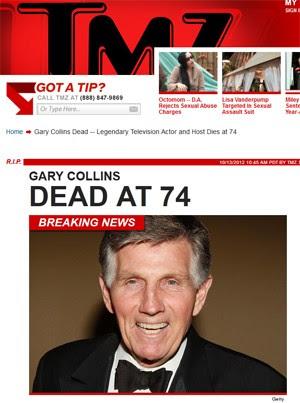 Ator e apresentador Gary Collins (Foto: Reprodução/TMZ.com)