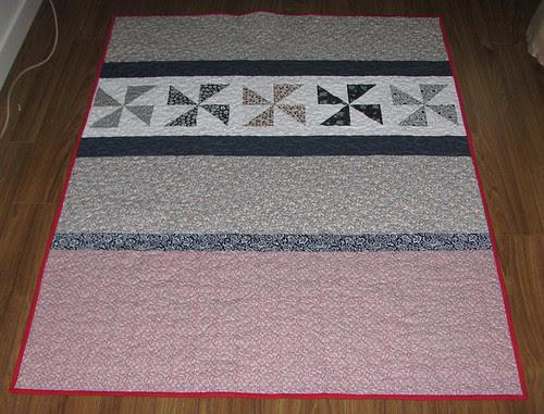 Pinwheel quilt back