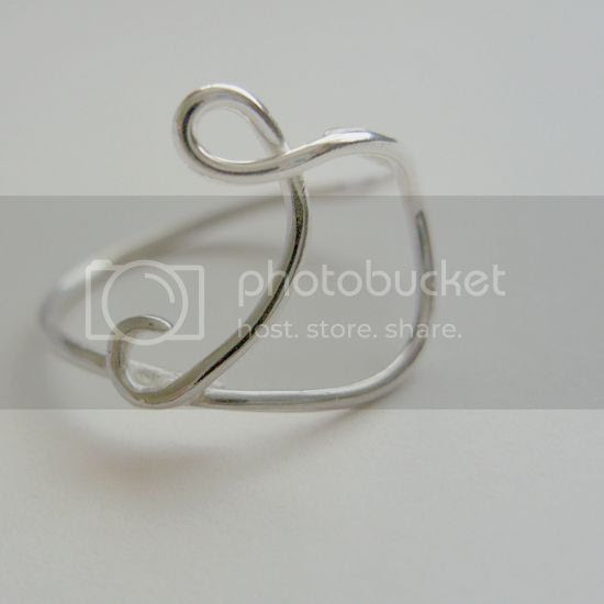 Letter ring by Silvermoss