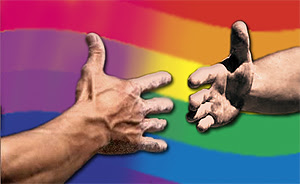 Helping Hands: the gay/lesbian community reacing out the hand of friendship to the bi/pan/fluid community