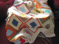 Logcabin blanket WIP