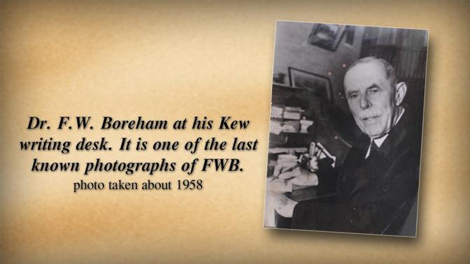Dr F.W. Boreham at his writing desk