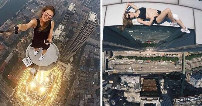 Essa jovem russa faz as selfies mais arriscadas que você já viu