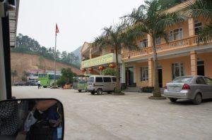 ベトナム側のバス駅