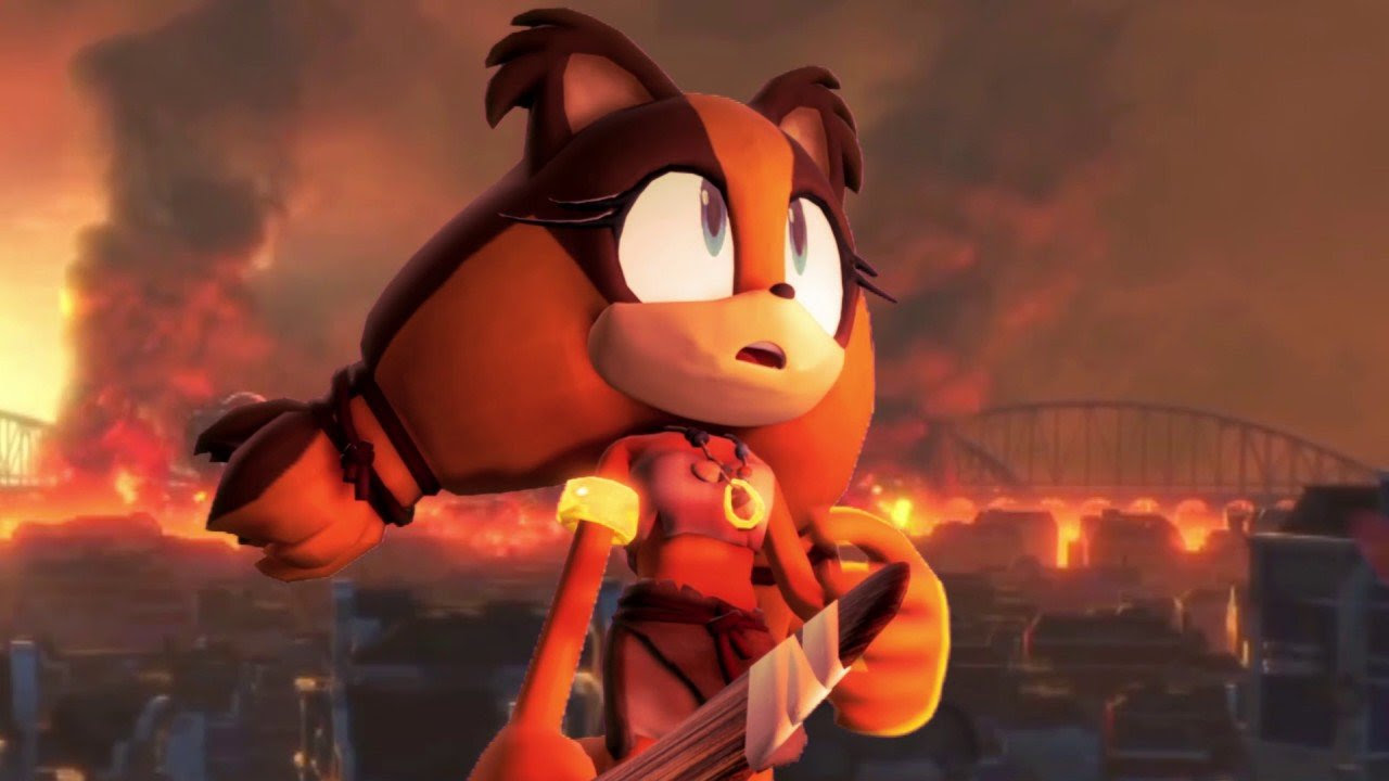 The Sonic Forces theme is called 'Fist Bump' and is sung by the Hoobastank guy screenshot