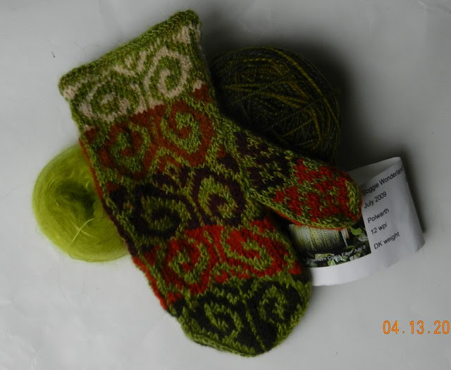Fiddlehead with liner yarn